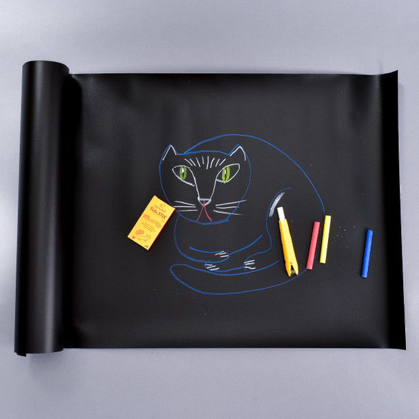 Reusable Table Runner With Set Of 4 ButterStix Chalk & Holder in use