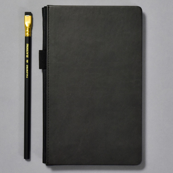 Blackwing Black Slate Notebook with included pencil