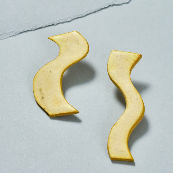 Squiggle Stud Earrings by Curious Clay