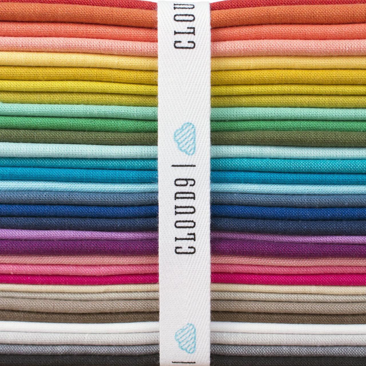 CLOUD 9, CIRRUS SOLIDS, 100% ORGANIC Cotton , Elegante Virgule Canada, Quilting Cotton
