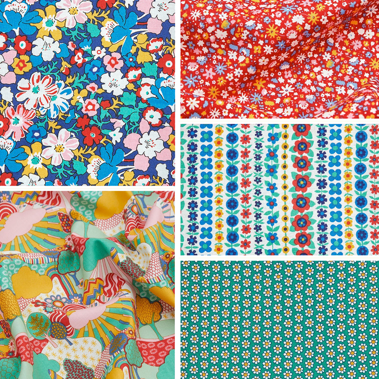 LIBERTY QUILTING, CARNABY COLLECTION Bohemian Brights