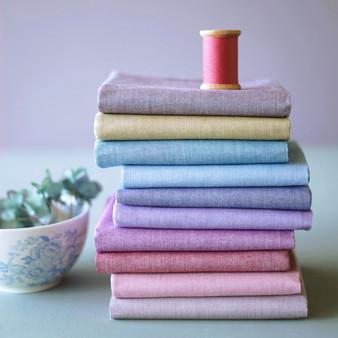 TILDA BASICS CHAMBRAY, Ocean Dawn - Bundle of 10 fabrics 100% Cotton. TILDA BASICS, Elegante Virgule Canada, Canadian Quilt Shop, Quilting Cotto