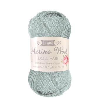 TILDA DOLL HAIR 140050 Sage - 100% Baby Merino Wool - TILDA BASICS and ACCESSORIES, ELEGANTE VIRGULE CANADA, Canadian Fabric Shop, Quilting Cotton