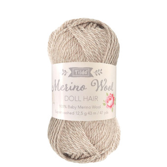 TILDA DOLL HAIR 140052 Blonde - 100% Baby Merino Wool - TILDA BASICS and ACCESSORIES, ELEGANTE VIRGULE CANADA, Canadian Fabric Shop, Quilting Cotton