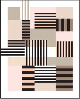 "ROBERT KAUFMAN Elements Quilt Kit [FREE PATTERN], in KONA-  56"" x 69"" (142 x 175 cm), Elegante Virgule Canada, Canadian Fabric Quilt Shop. Quilting Cotton, Patchwork"