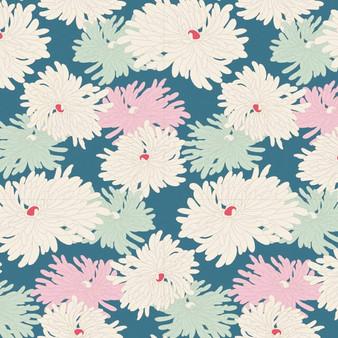 TILDA COTTAGE Minnie in Blue - Elegante Virgule Canada, Quilting Cotton, Montreal Quebec Fabric Quilt Shop, Patchwork