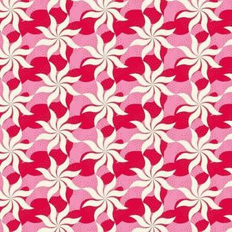 TILDA COTTAGE Fireworks in Red - Elegante Virgule Canada, Quilting Cotton, Montreal Quebec Fabric Quilt Shop, Patchwork