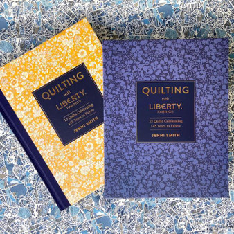 BOOKS, Quilting with Liberty by Jenni Smith - 224 pages, 15 projects- Elegante Virgule Canada, Canadian Fabric and Quilt Shop. Quilting Cotton