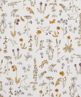 LIBERTY OF LONDON - THEO E-CC Gold Yellow 100% Cotton Tana Lawn, Per Half-Meter, CANADIAN SHOP. LIBERTY IN CANADA, Elegante Virgule, QUILTING SHOP