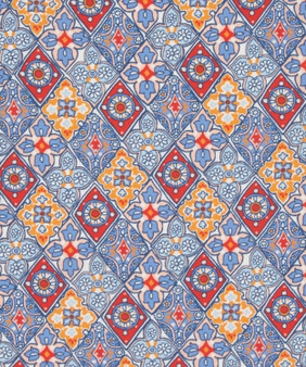 LIBERTY OF LONDON - ENAMOUR Blue 100% Cotton Tana Lawn, Per Half-Meter