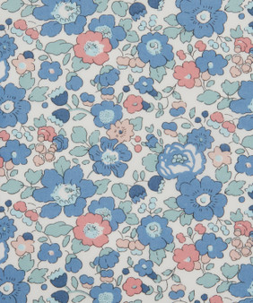 LIBERTY OF LONDON - BETSY ANN Blue 100% Cotton Tana Lawn, Per Half-Meter, CANADIAN SHOP. LIBERTY IN CANADA, Elegante Virgule