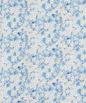 LIBERTY OF LONDON - MITSI VALERIA A Blue 100% Cotton Tana Lawn, Per Half-Meter, CANADIAN SHOP. LIBERTY IN CANADA, Elegante Virgule