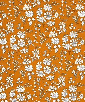 LIBERTY OF LONDON - CAPEL G Mustard 100% Cotton Tana Lawn, Per Half-Meter, CANADIAN SHOP. LIBERTY IN CANADA, Elegante Virgule