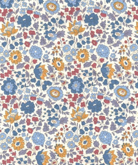 LIBERTY OF LONDON - D'ANJO A Multi and Blue 100% Cotton Tana Lawn, Per Half-Meter, CANADIAN SHOP. LIBERTY IN CANADA, Elegante Virgule