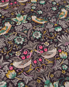 LIBERTY OF LONDON - STRAWBERRY THIEF K Light Brown 100% Cotton Tana Lawn, Per Half-Meter. CANADIAN SHOP. LIBERTY IN CANADA