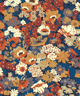 LIBERTY OF LONDON - THORPE L Orange 100% Cotton Tana Lawn, Per Half-Meter, CANADIAN SHOP. LIBERTY IN CANADA, Elegante Virgule, Quilting Shop