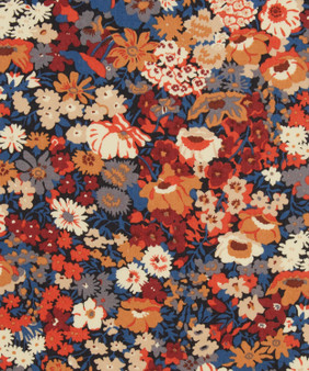 LIBERTY OF LONDON - THORPE L Orange 100% Cotton Tana Lawn, Per Half-Meter, CANADIAN SHOP. LIBERTY IN CANADA, Elegante Virgule