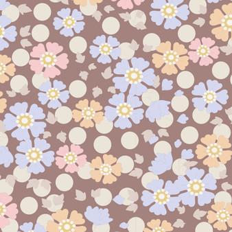 TILDA Plum Garden, Windflower in Nutmeg, 100% Cotton. Elegante Virgule Canada
