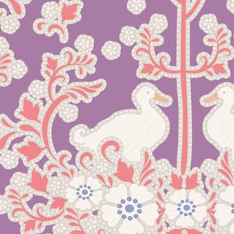 TILDA Plum Garden, Duck Nest in Plum, 100% Cotton, Per Half-Meter, Elegante Virgule Canada