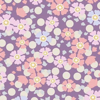 TILDA Plum Garden, Windflower in Lavender, 100% Cotton. Elegante Virgule Canada