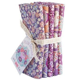 TILDA Plum Garden in PLUM, Fat Quarter Bundle of 5 Fabrics, 100% Cotton. Elegante Virgule Canada