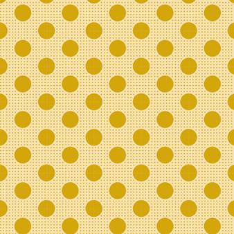 TILDA Medium Dots in Flaxen Yellow, 100% Cotton. TILDA BASICS, Elegante Virgule Canada