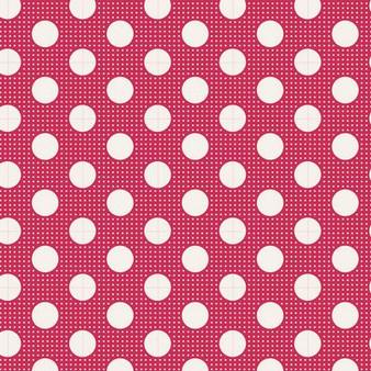 TILDA Medium Dots in Red, 100% Cotton. TILDA BASICS, Elegante Virgule Canada, Canadian Fabric Quilt Shop, Quilting Cotton