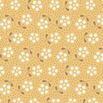 TILDA Meadow in Honey, 100% Cotton. TILDA BASICS, Elegante Virgule Canada