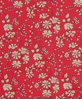 LIBERTY OF LONDON - CAPEL F Red 100% Cotton Tana Lawn, Per Half-Meter, CANADIAN SHOP. LIBERTY IN CANADA, Elegante Virgule
