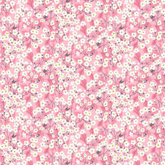 LIBERTY OF LONDON - MITSI VALERIA B Pink 100% Cotton Tana Lawn, Per Half-Meter, CANADIAN SHOP. LIBERTY IN CANADA, Elegante Virgule