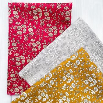 LIBERTY Bundle of 3 Fabrics, CAPEL FGK - Fat Eight or Fat Quarter