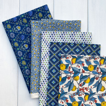 LIBERTY Bundle of 5 Fabrics, SUMMER HOUSE Yellow