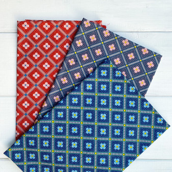 LIBERTY Bundle of 3 Fabrics, MANOR TILES Trio