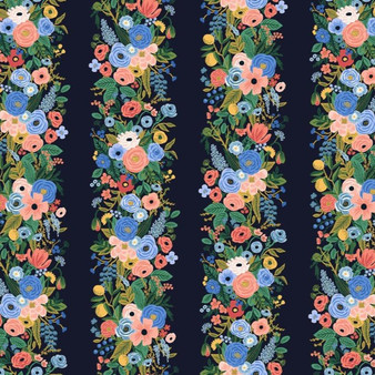 RIFLE PAPER CO Wildwood - Garden Party Vines in Navy, 100%  Rayon