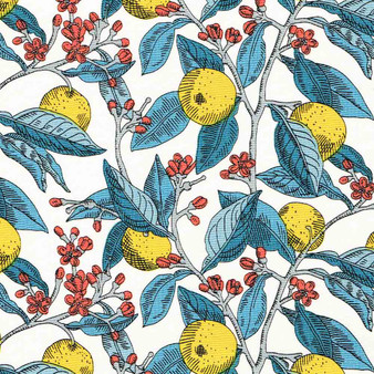 LIBERTY OF LONDON Quilting cotton, Conservatory in Yellow, ELEGANTE VIRGULE