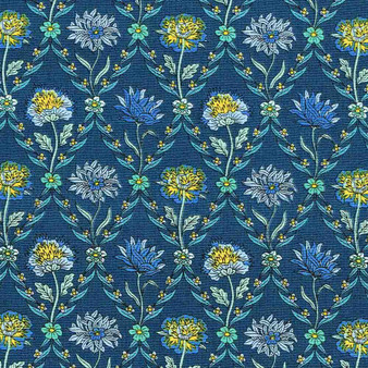LIBERTY OF LONDON Quilting cotton, Kew Trellis V in Navy, ELEGANTE VIRGULE