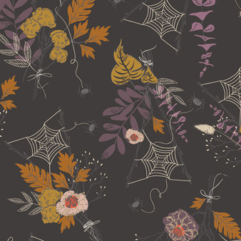 AGF ART GALLERY FABRIC - SPOOKY 'N SWEET, Cast a Spell - by the half-meter, ELEGANTE VIRGULE, Canadian Fabric Shop