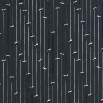 *HALLOWEEN MODA, Spider and Stripes on black - by the half-meter, ELEGANTE VIRGULE, Canadian Fabric Shop