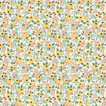 RIFLE PAPER CO, PRIMAVERA Rosa Cream,  ELEGANTE VIRGULE, CANADIAN FABRIC SHOP