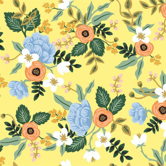 RIFLE PAPER CO, PRIMAVERA Birch in Yellow,  ELEGANTE VIRGULE, CANADIAN FABRIC SHOP