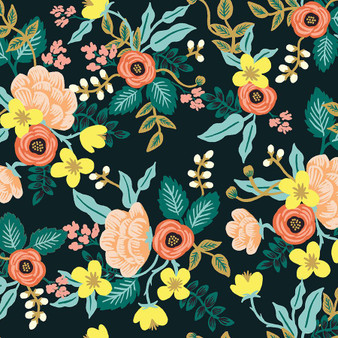 RIFLE PAPER CO, PRIMAVERA Birch in Black,  ELEGANTE VIRGULE, CANADIAN FABRIC SHOP