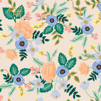 RIFLE PAPER CO, PRIMAVERA Birch in Blush,  ELEGANTE VIRGULE, CANADIAN FABRIC SHOP