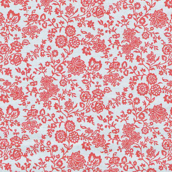 LIBERTY OF LONDON Quilting cotton, Hampton Vines Y in Red, ELEGANTE VIRGULE, Canadian Fabric Shop