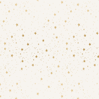 RIFLE PAPER CO, PRIMAVERA Stars in Cream Metallic,  ELEGANTE VIRGULE, CANADIAN FABRIC SHOP