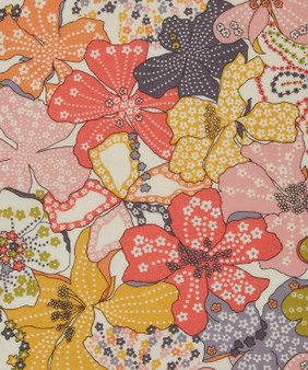 LIBERTY OF LONDON - MAUVEY A Yellow Peach Pink  100% Cotton Tana Lawn, Per Half-Meter, CANADIAN SHOP. LIBERTY IN CANADA, Elegante Virgule
