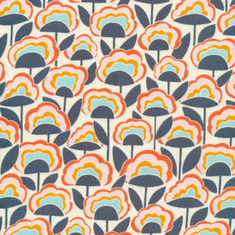 CLOUD 9, GOOD VIBRATIONS - Afterglow,  100% ORGANIC Cotton - by the half-meter, ELEGANTE VIRGULE, CANADIAN FABRIC SHOP