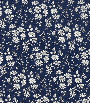 LIBERTY OF LONDON - CAPEL A Navy 100% Cotton Tana Lawn, Per Half-Meter, CANADIAN SHOP. LIBERTY IN CANADA, Elegante Virgule