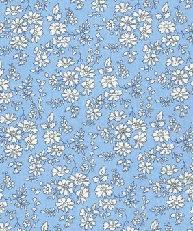 LIBERTY OF LONDON - CAPEL C Sky Blue 100% Cotton Tana Lawn, Per Half-Meter, CANADIAN SHOP. LIBERTY IN CANADA, Elegante Virgule