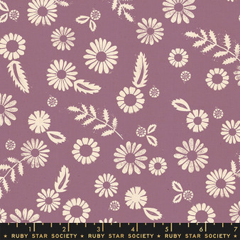 RUBY STAR SOCIETY, GOLDEN HOUR Daisy in Lilac,  ELEGANTE VIRGULE, CANADIAN FABRIC SHOP