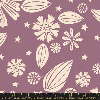 RUBY STAR SOCIETY, GOLDEN HOUR Zinnia in Lilac,  ELEGANTE VIRGULE, CANADIAN FABRIC SHOP